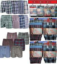 12 Mens Woven Boxer Shorts Loose Fit Poly Cotton Blend BoxersUnderwear All Sizes