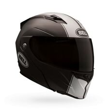 Bell Revolver EVO Flat Black White Modular Full Face Motorcycle Riding Helmet