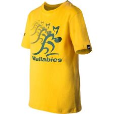 2014 Rugby Wallabies Gold Logo Kids Youth Supporter Tee T Shirt, Size 14 only