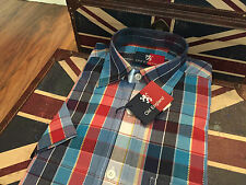 """Old England Short Sleeve Casual Shirt, Check Designs, Size 38"""" Chest, BNWT"""