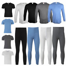 New Men's Thermal Long Johns Short Sleeve T-Shirts Winter Warm Thermal Underwear