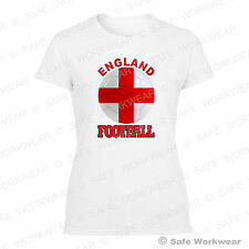 England - Ladies Cotton T shirt for UK Football Fans - Sexy Girls Tops