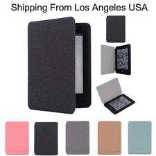 Denim Cloth Leather Skin Smart Case Cover For Amazon Kindle Paperwhite 1/2/3 899