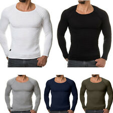 Men Tee Shirt Slim Fit O Neck Long Sleeve Muscle Casual Tops T Shirts Blouse Top