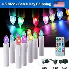 Flameless Led Christmas Tree Light Remote Timer Taper Candles for Wedding Party