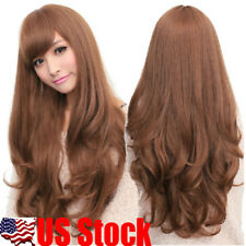 70cm Full Curly Wigs Cosplay Costume Anime Party Hair Wavy Long Wig #Light Brown