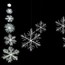 Christmas Party White Snowflake Charms Festival Decoration Decor Ornaments New