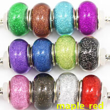 Fashion Round Shiny Resin Silver core DIY Bead For European Charm Bracelet RSB11