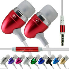 Aluminium In-Ear Earbud Stereo Handsfree Earphone for Bush Spira D5 5.5