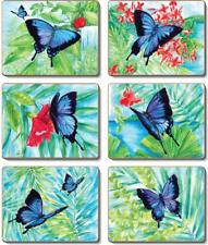 Country Kitchen ULYSSES BUTTERFLY Cork Backed Placemats or Coasters Set 6 NEW...