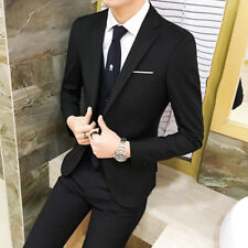 Mens One Button Coat Pant Wedding Suits Slim Fit 2Pcs Groom Formal Blazer Sets