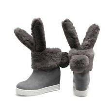 New Arrivals Fashion Women Short Boot Warm Suede Rabbit Shoes Increase Hot Boots