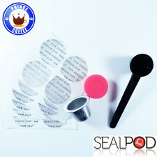 SealPod Stainless Steel Reusable Capsule w/ 24pcs Sticker Nespresso Compatible