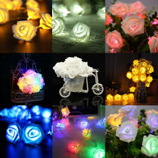 10LED Rose Flower Fairy Wedding Garden Party Christmas Decoration String Lights