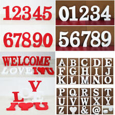 Red White 26 Wooden Free Standing Letters Alphabet Wedding Home Shop Decoration