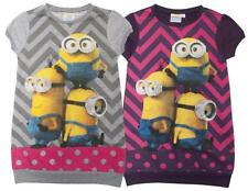 Girls Despicable Me Minions Short Sleeve Tunic Jumper Dress 3 to 8 Years