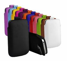 """For HTC Desire 550 (5"""") Protective Faux Leather Pull Tab Pouch Case Cover"""