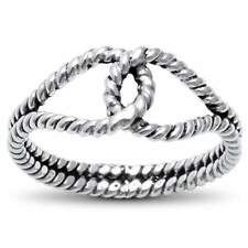 925 Sterling Silver Plain Infinity Knot Band Ring