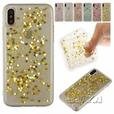 For iPhone 5 6 7 8 Plus soft TPU phone case protective skin rubber Giltter Cover