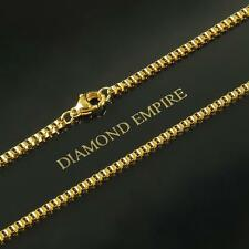 Venetian Chain 2 mm 999 24k Gold-plated Unisex Yellow Gold K2876
