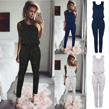 Women's Sleeveless Long Pants Slim Jumpsuit Casual Ladies Summer Romper Playsuit