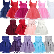 Baby Flower Girl Tutu Flower Dress Princess Pageant Wedding Birthday Party Dress