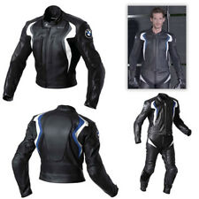 BMW LEATHER SUIT MOTORBIKE LEATHER SUIT MEN MOTORCYCLE LEATHER JACKET PANT 2-PCS