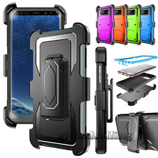 Armor Phone Cover +Belt Clip Holster Hard Case Skin for Samsung Galaxy Phones