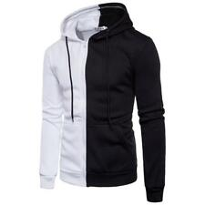High Quality Men Long Sleeve Hoodie Stitching Zipper Coat Jacket Outwear Tops