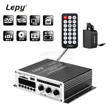 Lepy LP-V9S Hi-Fi Stereo Power Digital Amplifier 2x 20W USB DVD FM Car Adapter