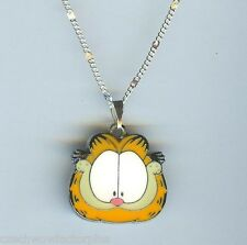 GARFIELD CAT Face Charm Pendant with Necklace - N613