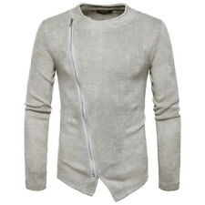 Men's Zip Up Casual Knitwear Cardigan Jumpers Knitted Tops Autumn Sweaters