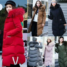 Winter Womens Jacket Long Down Coat Cotton Warm Padded Thicken Parka Outerwear