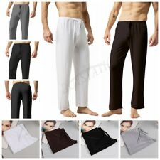 New Mens Sports Soft Silky Lounge Pants Tracksuit Bottoms Jogging Long Trousers
