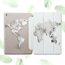 World Map Marble Pattern Design Case Smart Cover Stand iPad Pro Air Mini 2 3 4