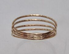 SIZE 8 14K GOLD FILLED QUADRUPLE BAND THUMB RING