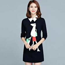 Women Autumn New Fashion Solid Color Zipper Decorated Stylish Dress