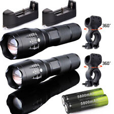 2set Flashlight 20000LM T6 LED Bicycle Lamp +360° Mount Holder+18650 BTY Charger