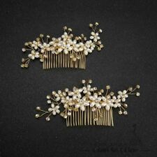 Fashion hair combs pearl jewelry crystal women hairpins bridal gold color hair o