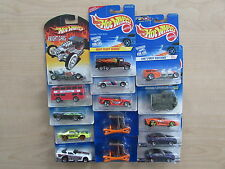 HOT WHEELS LOT OF 15 CARDED DIECAST CARS NEW AND SEALED JMSR21