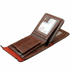 Fashion Mens Leather Bifold ID Money Holder Coin Purse Wallet Clutch Handbag