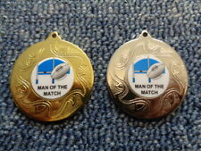 15 x Rugby Man of the Match Football Medals inc Red,White & Blue Ribbon