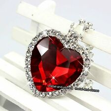 Titanic Heart Of The Ocean Necklace Red Stunning Xmas Gift For Her Wife Women UK