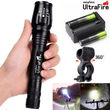 Zoomable Flashlight 5Mode 50000LM XM-L T6 LED 18650 Battery Focus Tactical Torch