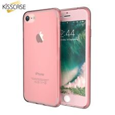 KISSCASE For Iphone 7 Plus Case 360 Full Protective Clear TPU Transparent Cover