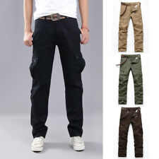 Men Casual Tactical Overalls Pants Pocket Military Leisure Cargo Combat Trousers