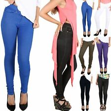 Womens Ladies Coloured Stretchy Skinny Fit Jeans Trousers Leggings Jeggings 8-16