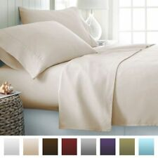 Ivory Solid Super Soft US Bedding Item-100% Egyptian Cotton 1000 TC India
