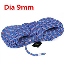 10m Static Ropes Team Outdoor Climbing Elastic Bungee Rope Roping 9mm Rope Blue