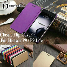 Luxury Classic Flip cover Holster PU Leather Case for Huawei P9 / P9 Lite (2016)